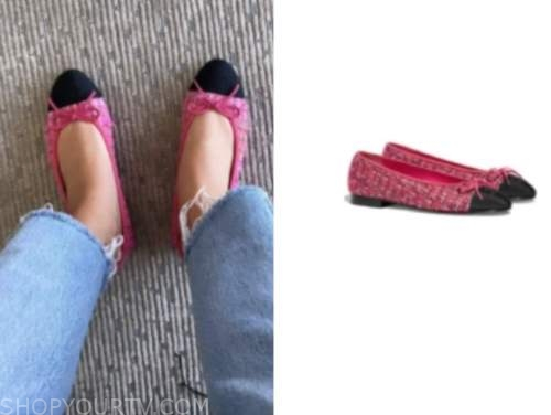 morgan stewart, E! news, pink tweed flats