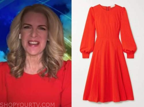 janice dean, fox and friends, red dress