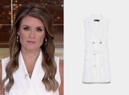 jillian mele, fox and friends, white vest dress