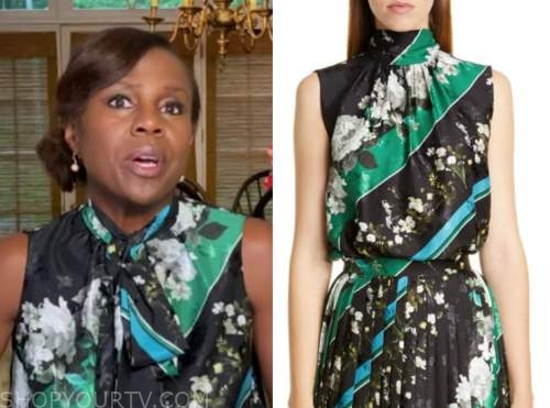 deborah roberts, good morning america, floral tie neck top