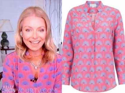 kelly ripa, live with kelly and ryan, pink and blue tunic top