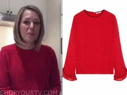 dylan dreyer, the today show, red polka dot blouse