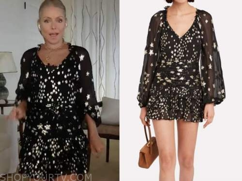 kelly ripa, live with kelly and ryan, star print dress