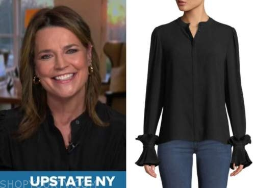 the today show, savannah guthrie, black blouse