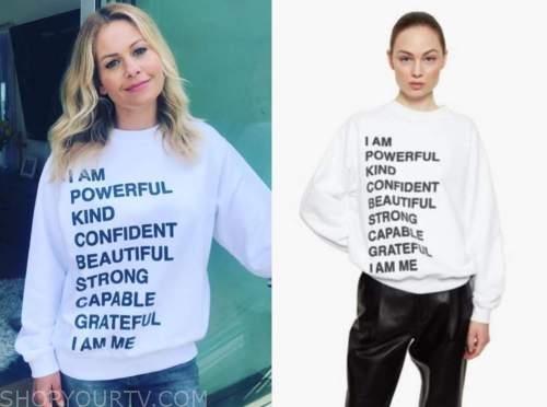candace cameron bure, graphic sweatshirt
