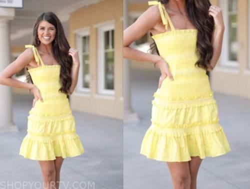 madison prewett, the bachelor, yellow dress