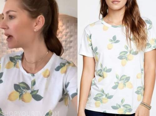 ashlee frazier, the bachelor, lemon print tee