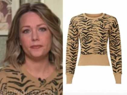 dylan dreyer, the today show, tiger print sweater