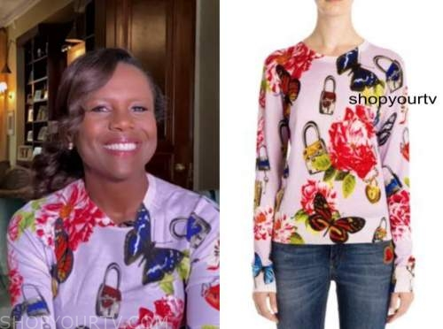 deborah roberts, good morning america, butterfly lock top