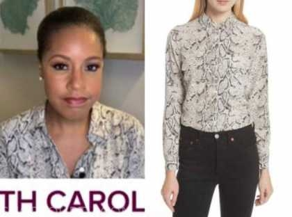 sheinelle jones, the today show, snakeskin shirt
