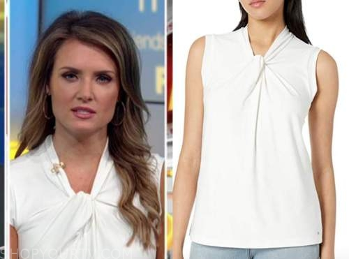 jillian mele, fox and friends, white knot top