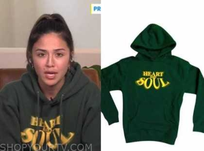 erin lim, E! news, daily pop, green and yellow hoodie