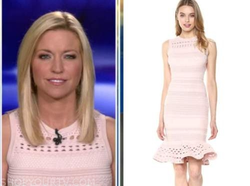 ainsley earhardt, fox and friends, blush pink dress