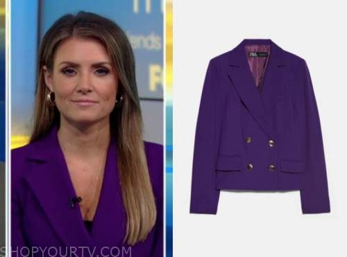 jillian mele, fox and friends, purple blazer