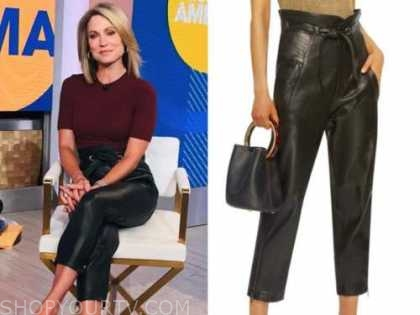 amy robach, good morning america, black leather pants
