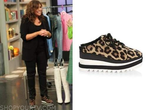 rachael ray, the rachael ray show, leopard mule sneakers
