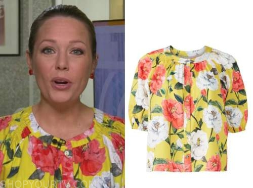 dylan dreyer, yellow floral top, the today show