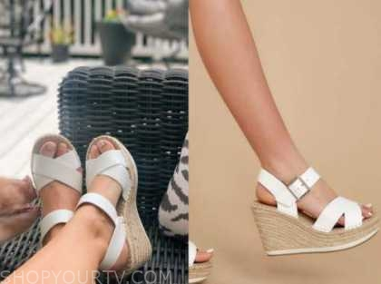 jenna cooper, the bachelor, white platform sandals