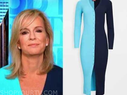 dr. jennifer ashton, blue cardigan sweater, good morning america