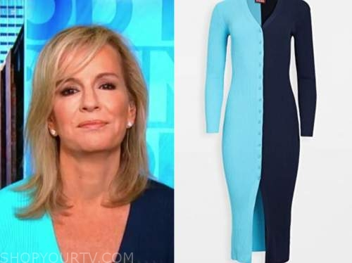 dr. jennifer ashton, blue cardigan sweater, good morning america
