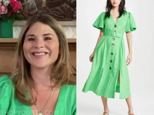 jenna bush hager, the today show, green midi dress