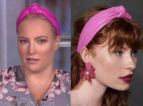meghan mccain, the view, pink leather knot headband