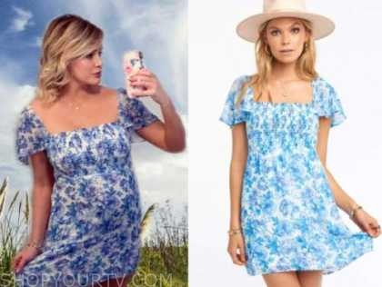 jenna cooper, the bachelor, blue and white floral dress