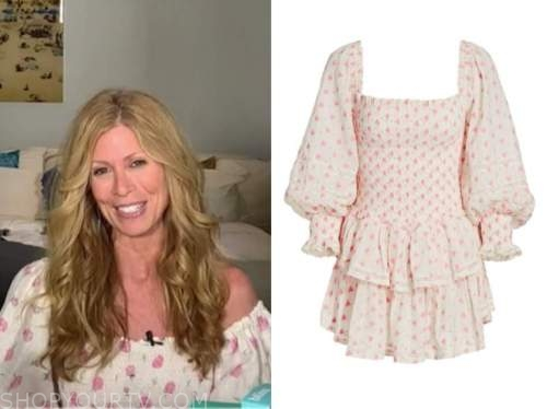 jill martin ,the today show, ivory and pink printed dress