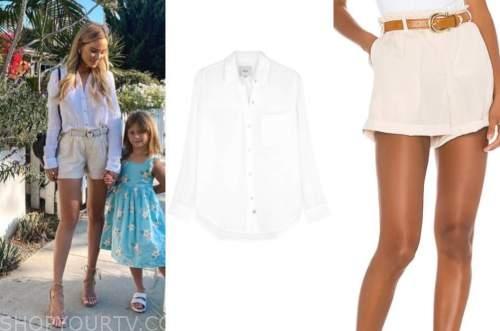 amanda stanton, the bachelor, white shirt, beige shorts