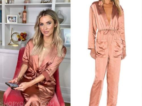 kaitlyn bristowe, the bachelor, rose gold satin jumpsuit
