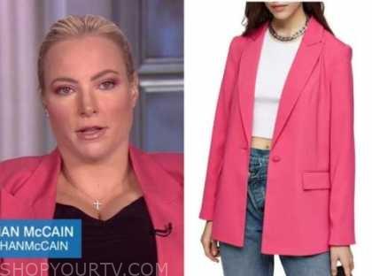 meghan mccain, the view, pink blazer