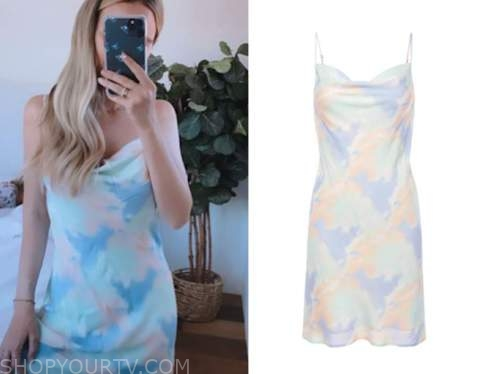 amanda stanton, the bachelor, tie dye dress