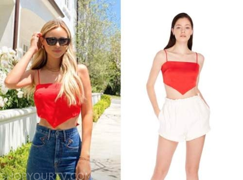 amanda stanton, the bachelor, red crop top