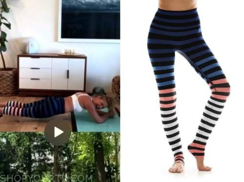 candace cameron bure, striped leggings