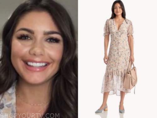 hannah ann sluss, the bachelor, ivory floral midi dress