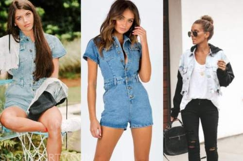 madison prewett, the bachelor, denim romper, jacket