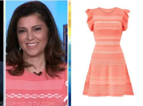 rachel campos duffy, fox and friends, coral knit dress
