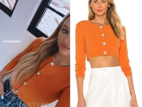 amanda stanton, orange cardigan, the bachelor