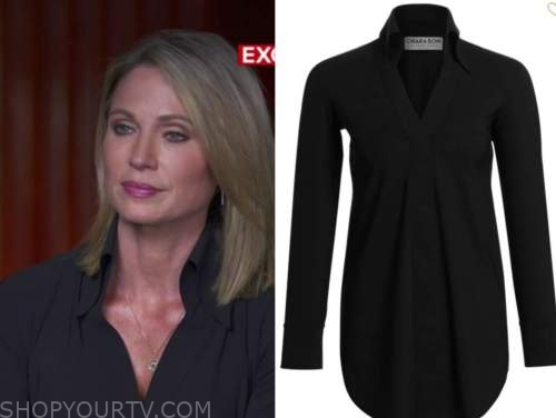 amy robach, good morning america, black blouse