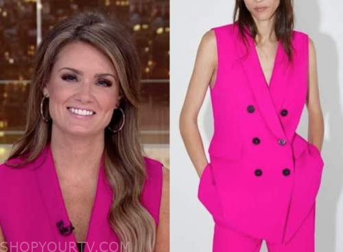 jillian mele, fox and friends, pink vest
