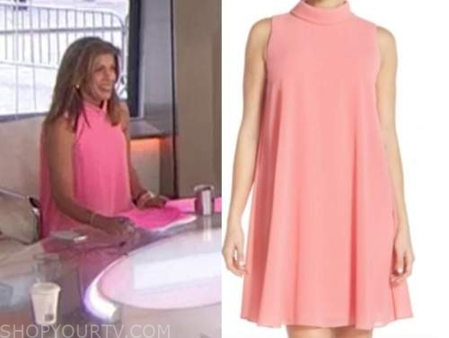 hoda kotb, the today show, pink mock neck dress