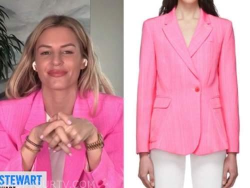 E! news, daily pop, morgan stewart, pink blazer