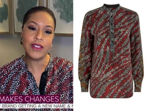 sheinelle jones, the today show, printed blouse