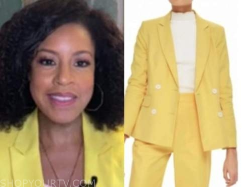 sheinelle jones, the today show, yellow blazer