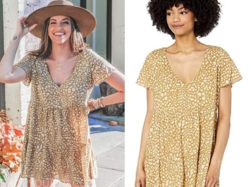 tia booth, the bachelor, animal print dress