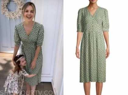 ali fedotowsky, the bachelorette, green polka dot midi dress
