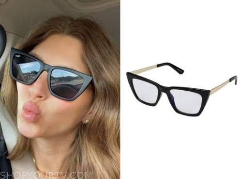 ashlee frazier, the bachelor, black sunglasses