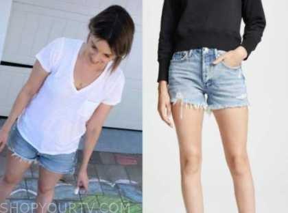 ali fedotowsky, the bachelorette, distressed denim shorts
