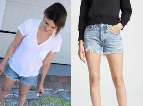 ali fedotowsky, the bachelorette, distressed denim shorts