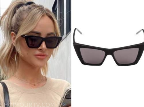 amanda stanton, the bachelor, black cat eye sunglasses